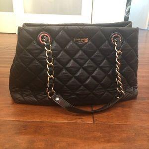 Kate Spade Gold Coast Maryanne Black Quilted Bag